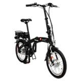 Bicicleta Plegable Basic Negra Mate Rin 18 pulgadas