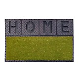 Felpudo Luxury Coco Verde Relieve Home 45x75 cm