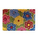 Felpudo Coco Design Flores 40x60 cm