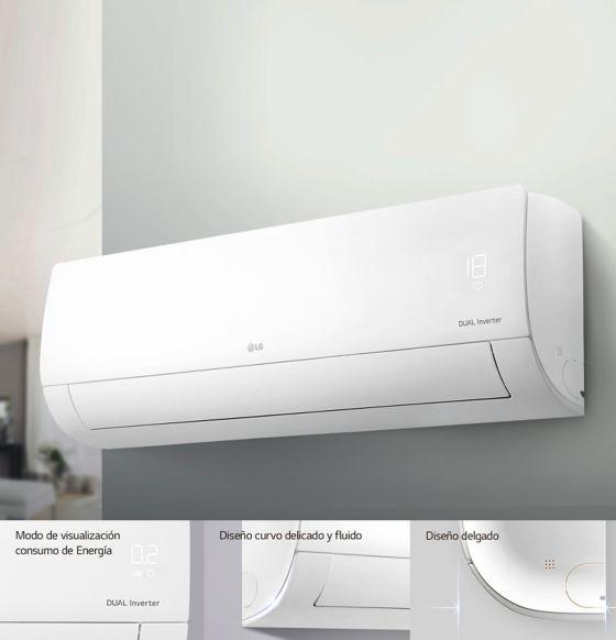 diseño delgado y moderno aire acondicionado LG