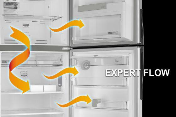 Xpert Flow sistema de manejo del aire eficiente de Whirlpool.