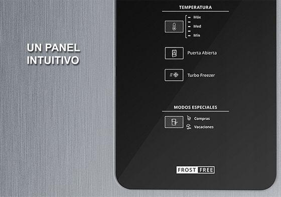 Un panel digital muy intuitivo y con todas las opciones necesarias de control.