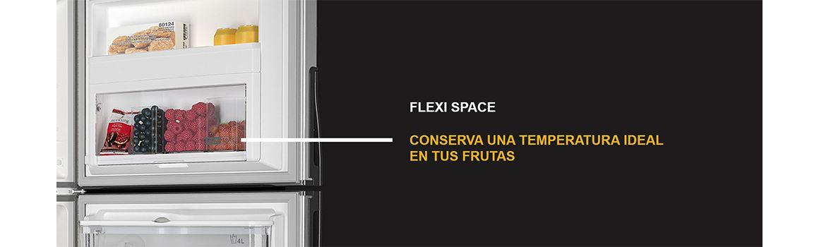Espacios dedicados para un enfriamiento especial llamado Flexi Space de Whirlpool.