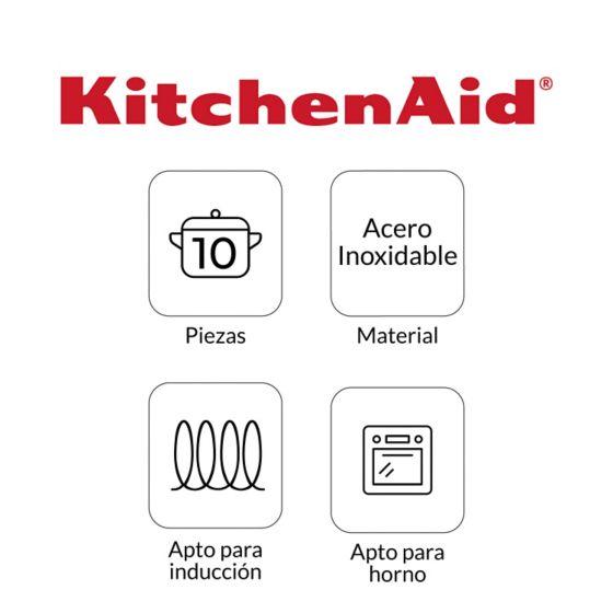 Batería de Ollas en Acero Inoxidable de KitchenAid