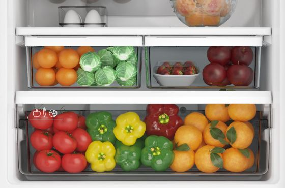 Espacios reservados para vegetales con temperatura estable.