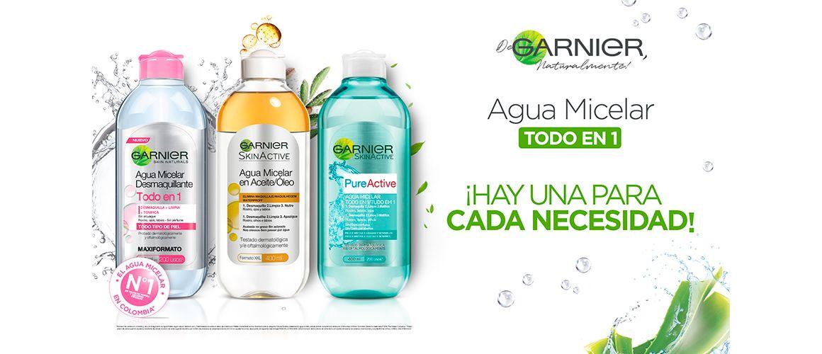agua micelar micelar solucion loreal garnier limpieza desmaquillante maquillaje natural limpiador facial impurezas removedor
