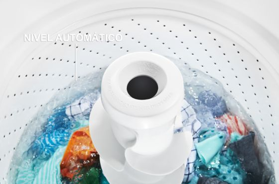 Sin desperdicios de agua con auto nivel Whirlpool