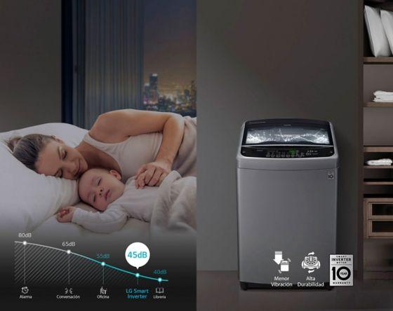 Imagen mostrando lo silencioso que es el producto, madre descansando con su hijo.