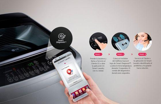 Imagen mostrando como se puede diagnostica el producto desde el teléfono.