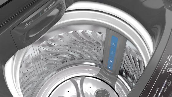 Establece el nivel de carga en la parte interna de la lavadora con el sistema Intellicarga.