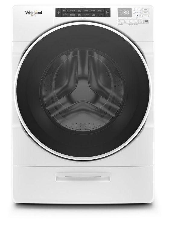 Lavadora de carga frontal Load&Go Whirlpool de 19.5 Kg Blanca
