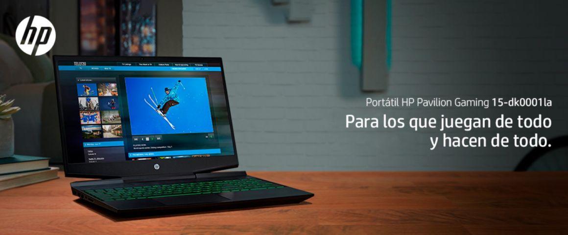 Portátil HP Pavilion Gaming 15-dk0001la, para los que juegan de todo y hacen de todo.