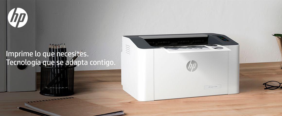 Impresora HP Laser 107w, imprime lo que necesites. Tecnología que se adapta contigo.