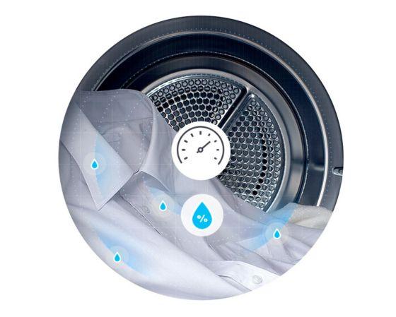 El Sensor de Secado mide el nivel de humedad durante el ciclo y optimiza automáticamente el tiempo de secado.