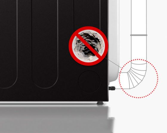 detecta y alerta sobre bloqueos en los conductos que reducen el flujo de escape de la secadora.