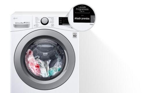 La lavadora de Carga Frontal LG permite