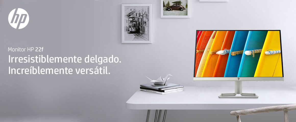 Monitor HP 22f, irresistiblemente delgado. Increíblemente versátil.