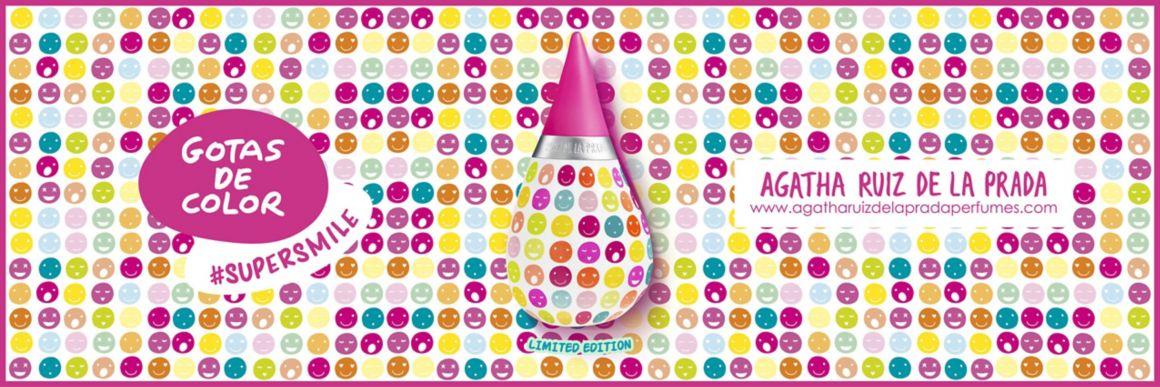 Agatha ruiz de la Prada,  Gotas de color, Agatha,  mujer, perfume, colonia, supersmile, edicion limitada