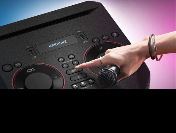 Torre de sonido con la función de Karaoke Star