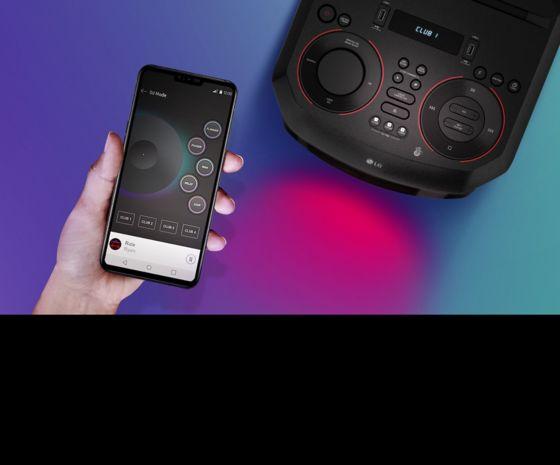 Torre de sonido con App DJ