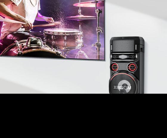 Torre de sonido con TV Sound Sync