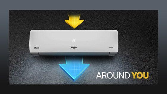 8371145 La tecnología Around You de Whirlpool permite que el aire envuelva al susuario en el entorno y no que solo esté entorno al aire acondicionado.