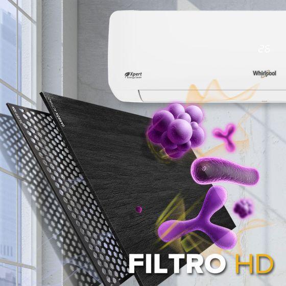 8371146 Minisplit Whirlpool con FiltroHD que elimina el 99.9 porciento de bacterias.