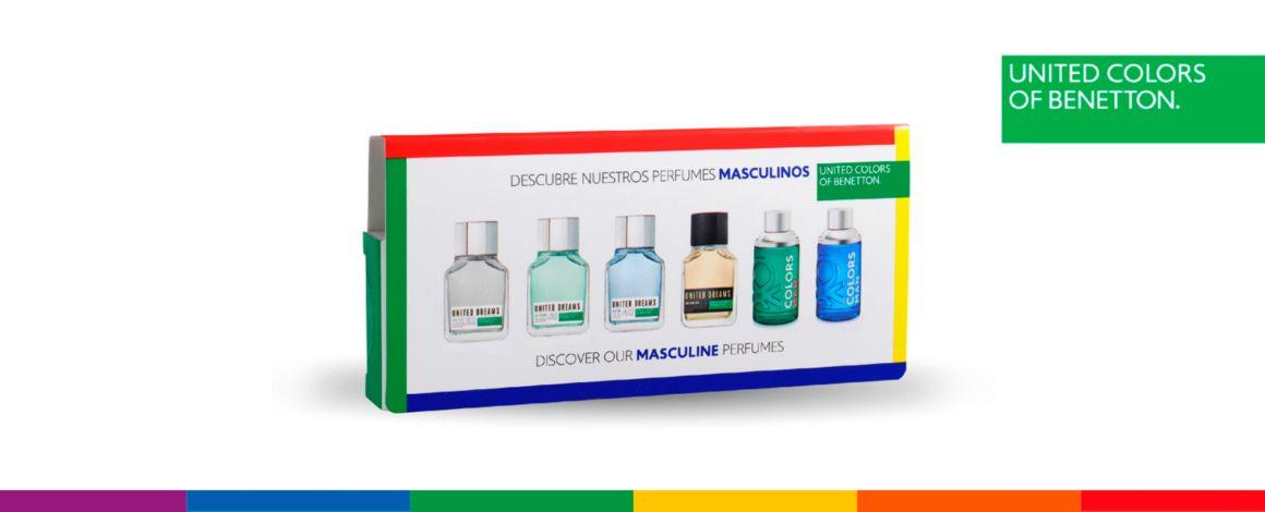 Discovery kit, masculino, hombre, benetton, perfumes, viales, regalo, amigo secreto