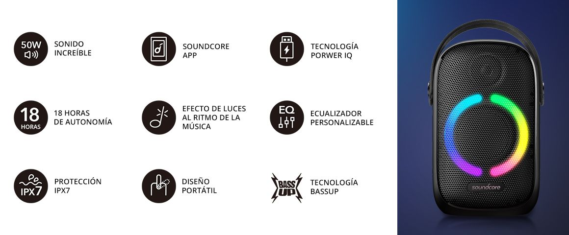 Parlante Bluetooth Rave Neo