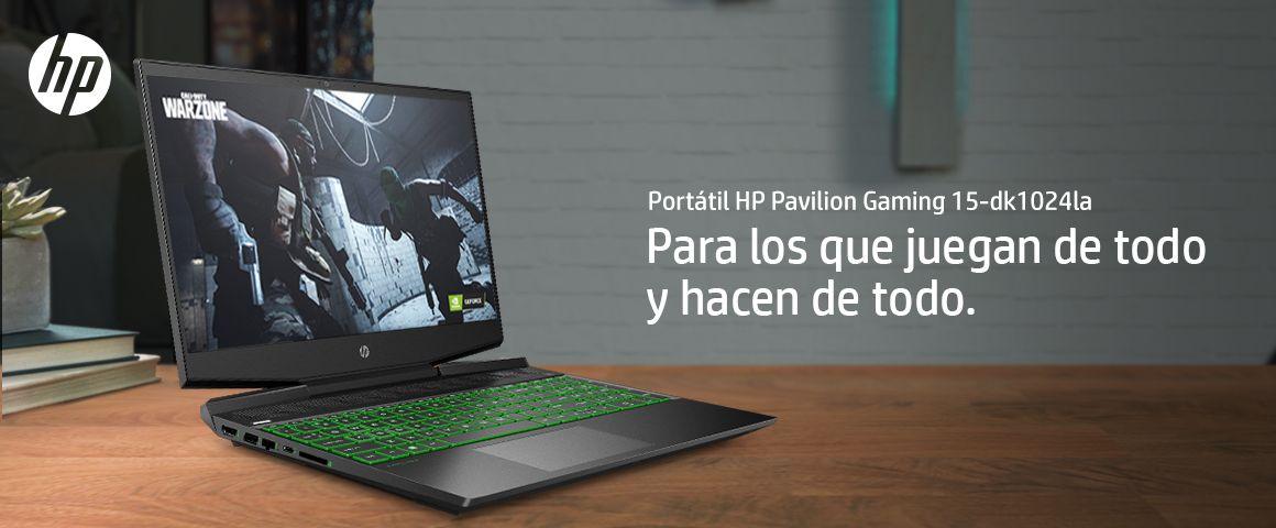 Portátil HP Pavilion Gaming 15-dk1024la, para los que juegan de todo y hacen de todo.