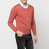 Sweater Cuello V Liso