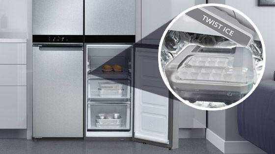 Nevecón Whirlpool French Door Bottom Mount Diseño exterior Quattro con opción Flexifreeze que evita quemaduras por congelamiento en los alimentos. WRQ551SNJZ - 9072533