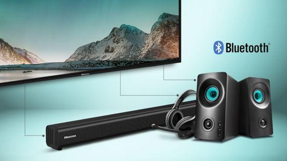HISENSE TV Conexión Bluetooth, no mas cables