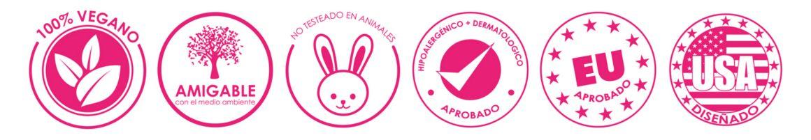 reconocimientos, acreditaciones, certificaciones, sellos de reconocimiento, vegano, amigable, animales, hipoalergénico, dermatológico, aprobaciones makeup eraser