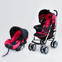 Coche Travel System Cross Rosado Oscuro