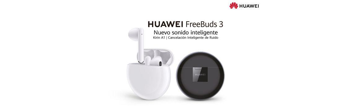 Audífonos FreeBuds 3 blancos y negros.