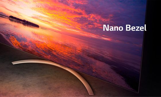 elegante diseño del televisor LG NanoCell TV