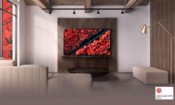 galería de arte con LG TV