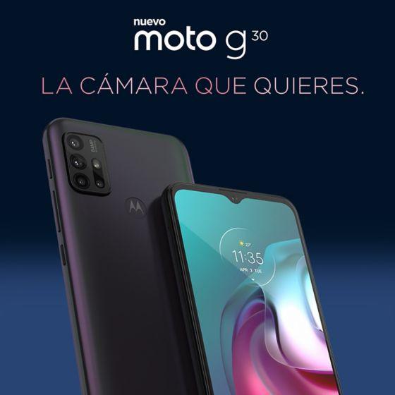 Nuevo Moto G30. La cámara que quieres.