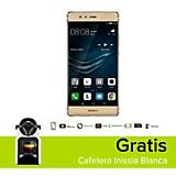 Combo P9 Plus Dorado Celular Libre + Cafetera Inissia Blanca