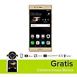 Combo P9 Dorado Celular Libre + Cafetera Inissia Blanca