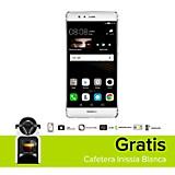 Combo P9 Plateado Celular Libre + Cafetera Inissia Blanca