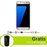 Combo Galaxy S7 Edge LTE Dorado Celular Libre + Parlante Wireless 360 R1 Negro