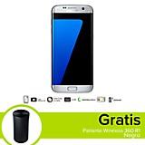 Combo Galaxy S7 Edge LTE Plateado Celular Libre + Parlante Wireless 360 R1 Negro