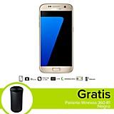 Combo Galaxy S7 LTE Dorado Celular Libre + Parlante Wireless 360 R1 Negro