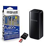 Combo Audífonos Fusion Aqua + Micro SD 16GB + Batería Universal