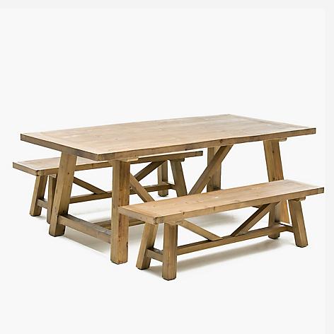 Mesa de comedor 2 bancos rhone for Banco para mesa de comedor