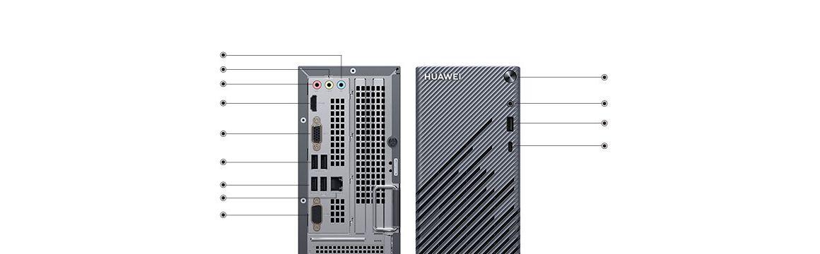 Matestation s con puerto USB-C frontal permitiendo fácil acceso