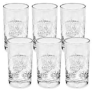 Juego de Vasos Línea Tallado Long Drink 6 Piezas
