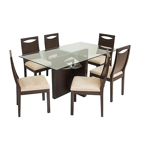 Juego de comedor mica elipse 6 sillas for Comedor 8 sillas falabella